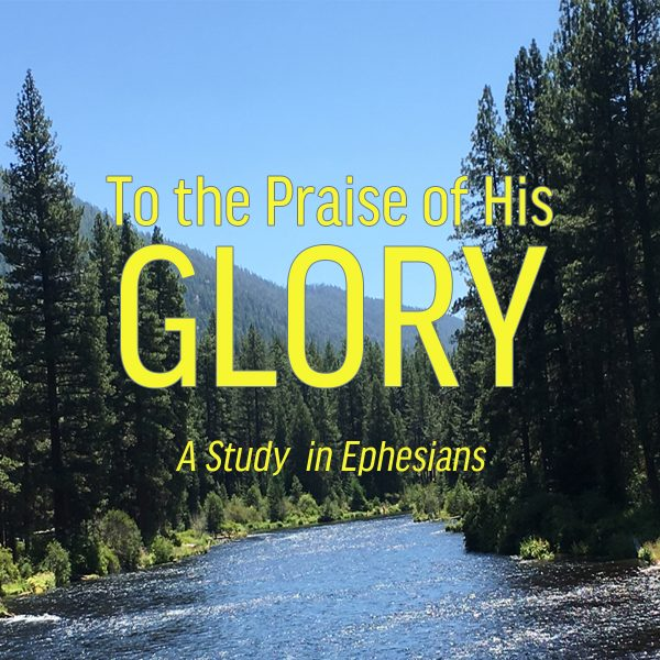Sermon series artwork with the words To the Praise of His Glory: A Study in Ephesians